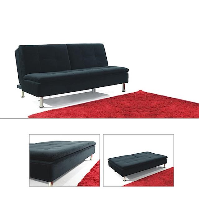 click clack sofa bed open black fabric sofa bed fabric