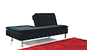 1027 - CLICK CLACK SOFA BED (Black Fabric)