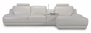 Leather Sofa - Left Angle Sofa 3 Seater