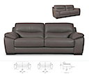 30942 - SOFA 2 Seater (Brown Leather)