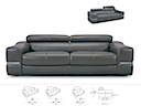 30974 - SOFA 2 Seater (Grey Leather)