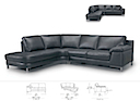 30994(2.5PR+CSL) - RIGHT ANGLE SOFA 5 Seater (Black Leather)