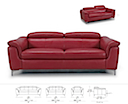 31052 - SOFA 2 Seater (Red Leather)