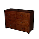 53953 - COMMODE 6 Drawers