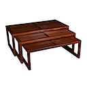 53984 - COFFEE TABLE SET OF 3