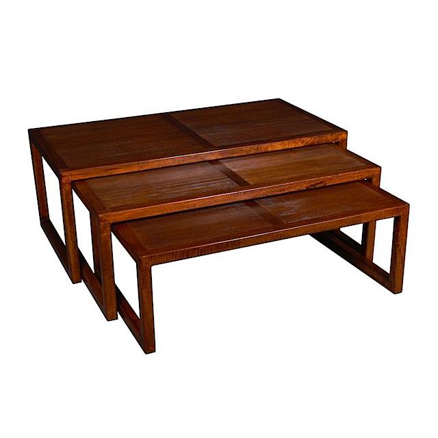 Coffee table set of 3 tempo living room furniture uae for Coffee tables uae