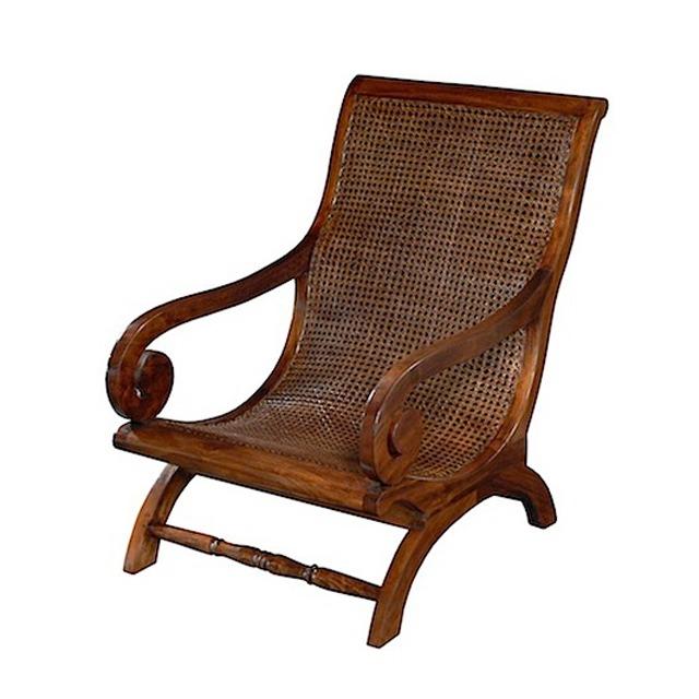 LAZY CHAIR RATTAN TEAK Colonial Armchair