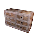 56772NV - LOW COMMODE 6 Drawers
