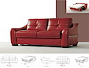 7400SBM - SOFA BED 2 Seater (Red Leather)