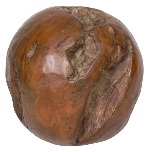 Rustic ball deco teak wood diverse hand carved uae for Home decor 80121