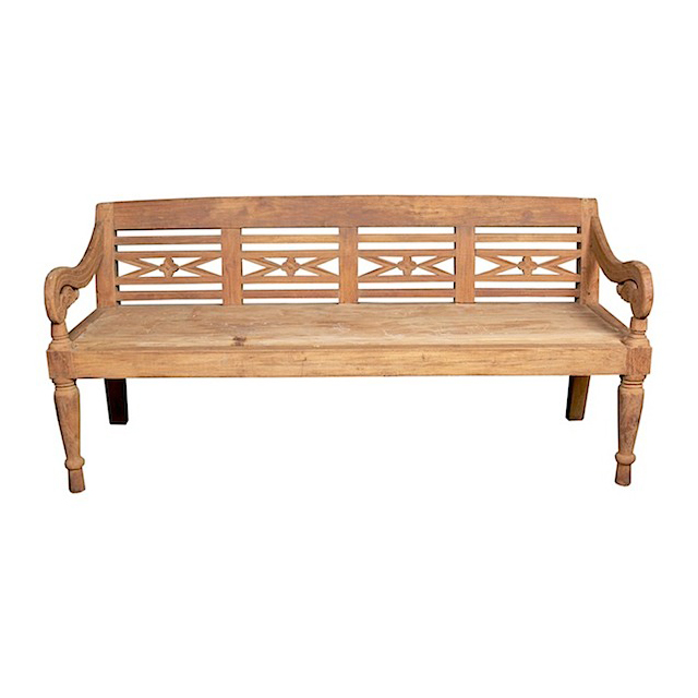80691ART Rest Bench Teak Natural (M) 176x74x86cm