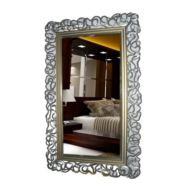Long mirror silver gold baroque mirror uae dubai rak for Miroir 80x100