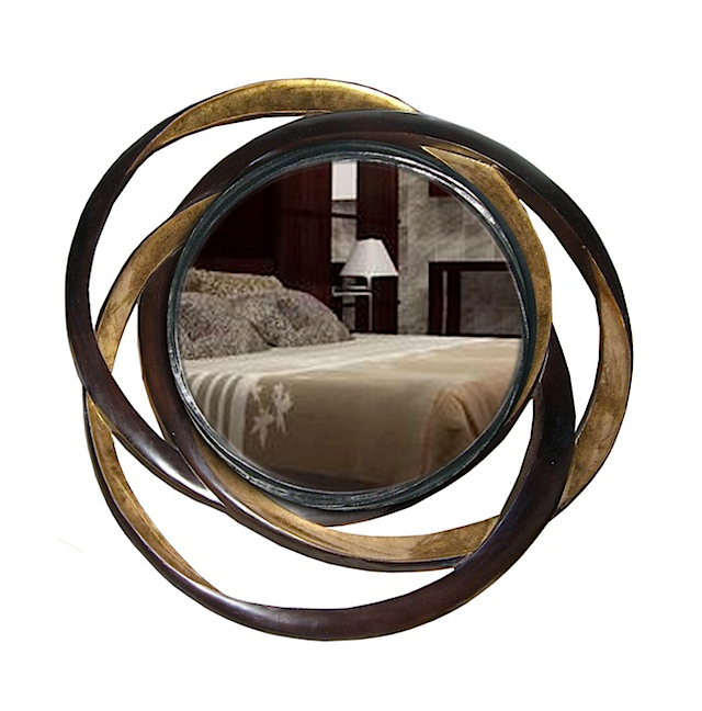 Pita oval mirror industrial style mirror maison chic for Miroir 80x100