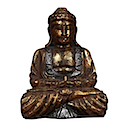 81598 - SITTING BUDDHA GOLD CRACK