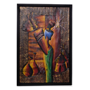 81933 - AFRICAN PAINTING ON WOOD