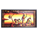 81939 - AFRICAN PAINTING ON WOOD
