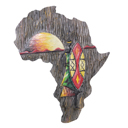 81944 - AFRICA ON WOOD