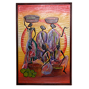 81947 - AFRICAN PAINTING ON WOOD
