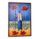 81962 - AFRICAN PAINTING ON WOOD