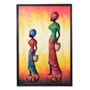 81963 - AFRICAN PAINTING ON WOOD