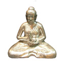 82140S - BUDDHA CANDLE HOLDER (Silver)