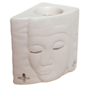 82204B - INCENSE BURNER BUDDHA (White)