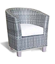 82498 - ALOHA ARMCHAIR GREY WASH LEGS RESIN KUBU