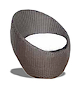 EGG ARMCHAIR RATTAN SYNTHETIC