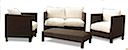 82527 - OMEGA SOFA SET RESIN CHOCO