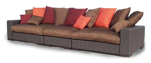 mekong xxl sofa resin peel black choco synthetic. Black Bedroom Furniture Sets. Home Design Ideas