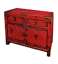 84125MDJR - BUFFET CABINET 2 Drawers 2 Doors (Red)
