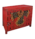 84130MDJ - BUFFET CABINET 10 Drawers 2 Doors (Red)