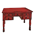 84134MDJ - WRITING DESK 5 Drawers (Red)