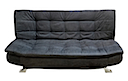 AJ1027BB - CLICK CLACK SOFA BED (Blue-Black)