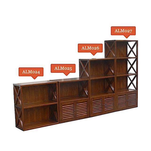 Set Of Shelves Cross 1 Teak Home Office Furniture