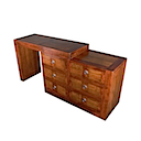 ALM186 - COMMODE DRESSING TABLE 6 Drawers