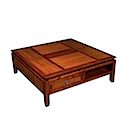 BAL04 - COFFEE TABLE 100x100 2 Drawers 2 Niches
