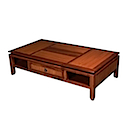 BAL05 - COFFEE TABLE 130x70 3 Drawers 2 Niches