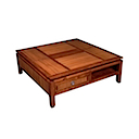 BAL11 - COFFEE TABLE 80x80 2 Drawers 2 Niches