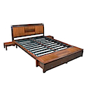 BAL84N - BED 160x200 2 Drawers with 2 Bedsides