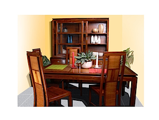 Bali dining room furniture set