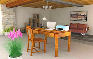 Bali home office furniture set