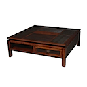 BLC004 - COFFEE TABLE 100x100 2 Drawers 2 Niches