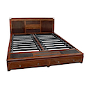 BLC076N - BED 160x200 2 Drawers