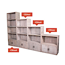 BOOKCASES SET OF 4