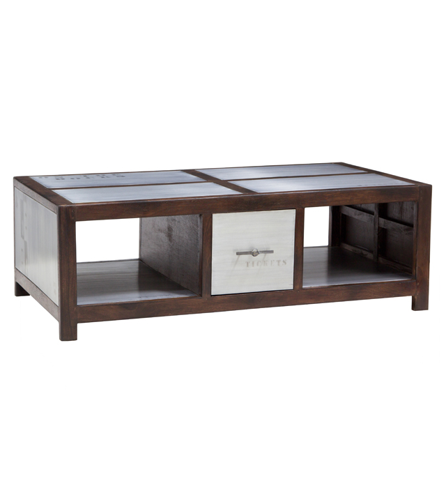 Coffee table 120x70 2 drawers 4 niches docker plate for Coffee tables uae
