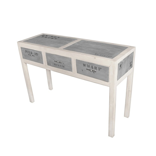 DOA119N Console Table 3 Drawers 120x40x80cm