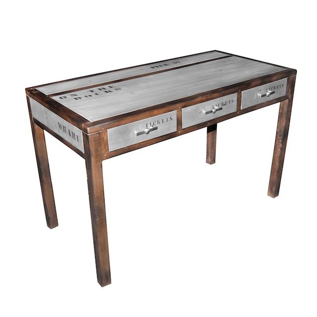 Writing Desk Kd Docker Plate Dark Home Office Furniture Uae Dubai Rak