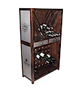 DOA139 - WINE STORAGE CABINET 2 Drawers (with Bottles)