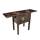 DOB39 - FOLDING CASUAL TABLE 2 Flaps 2 Drawers